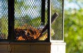 Hoe te branden van hout met nagels in een vuurplaats