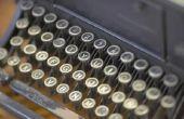 Hoe schoon de oude handmatige typemachine toetsen
