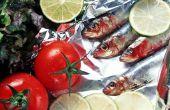 Het behouden van verse Sardines
