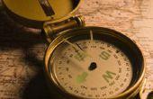 Hoe zet ik een magnetisch kompas-cursus op True