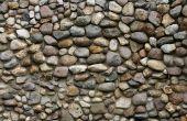 How to Build een stenen muur met ronde stenen & Cement