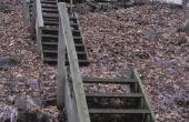 How to Build stappen aan de kant van een steile heuvel