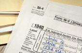 Hoe het maximaliseren van uw BTW-aangifte met een W-4