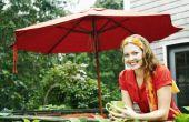 Hoe te repareren van Treasure tuin parasols