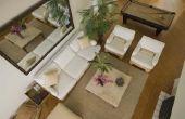 Het rangschikken van meubelen in een rechthoekige woonkamer