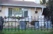 Hoe maak je een goedkope begraafplaats hek voor Halloween