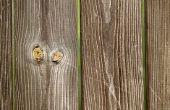 Materialen die nodig zijn om te bouwen van een houten hek