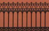 How to Fix roest gaten in een smeedijzeren hek