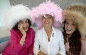 Bruids douche ideeën en thema's met behulp van grote hoeden