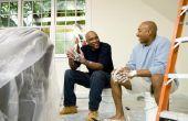 Hoe te schilderen van een L-vormige woonkamer & eetkamer