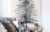 Een feestelijke kerstboom muur opknoping maken