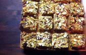Hoe maak je eiwit Bars met noten, korrels & chocolade