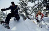 Hoe meet je het gewicht en de beoordeling van een sneeuwschoentrails