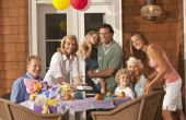 Het gebruik van ballonnen als tafel decoratie