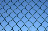 Hoe de berg een teken voor een ketting Link hek