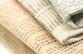 Zelfgemaakte krant als venster isolatie