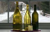 Ambachten voor Kerstmis met wijn flessen
