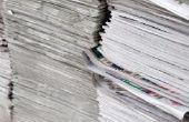 Hoe maak je papier Mache met behulp van vloeibaar zetmeel