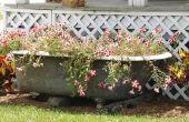Hoe maak je een Container tuin uit een badkuip