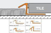 Hoe maak je vloer overgang Strips tussen twee ongelijke vloeren