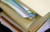 Hoe te organiseren een huishoudelijke papier Filing System