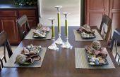 DIY plannen voor de bouw van een eettafel
