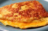 Hoe maak je kaas omeletten