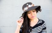 DIY Feather bijgesneden Floppy hoed
