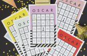 Host een winnen Oscars Party met gratis afdrukbare bingokaarten