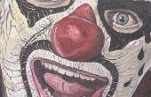 Eng gezicht schilderij ideeën voor volwassenen
