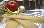 Hoe te bakken van lasagne in een aluminium Pan