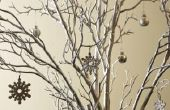 Hoe te te verfraaien boomtakken voor een Winter Wonderland-thema feest
