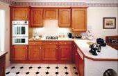 Hoe Vervang deuren op een keukenkast met gordijnen