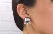 How to Make Recycled Plastic & Gem verklaring oorbellen