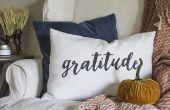 DIY dankbaarheid lumbale kussen