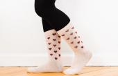 Hoe maak je hart Print sokken