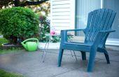 Hoe schoon krijtachtige kunststof gazon stoelen