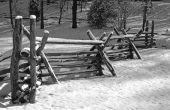 Hoe installeer ik een Split spoor Fence