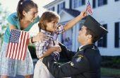 Hoe jonge kinderen op te voeden tijdens een militaire implementatie