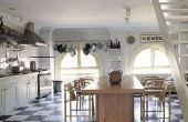 Hoe te te verfraaien van een zwart-wit keuken
