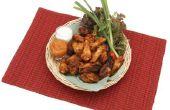 Hoe maak je geroosterde knoflook Parmezaanse Chicken Wings