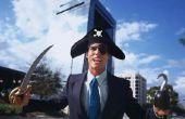 Zelfgemaakte piraat kostuum voor volwassenen