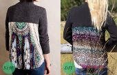 DIY geplooide stof-Back trui