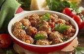 Koken methoden voor gehaktballen