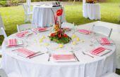 Hoe te te verfraaien een achtertuin voor een bruiloft receptie