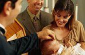 Baby zegen tradities in een Spaanse massa