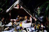Hoe maak je een schoenendoos Nativity Diorama