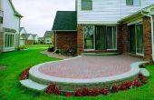 How to Build een verhoogde Patio uit baksteen straatstenen