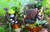 Hoe maak je de tuin van een sprookje uit een gebroken Pot
