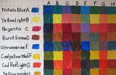 Hoe te schilderen van een acryl kleur mengen grafiek